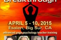 Advanced Yoga Psychology Teacher Training | April 5 – 10